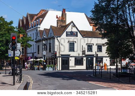 Windsor, England - 15th August 2015: The Bel And Dragon Teahouse At The Junction Of Datchett Road An