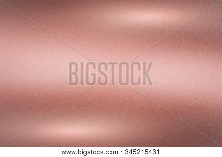Brushed Rose Gold Metallic Wall With Scratched Surface, Abstract Texture Background
