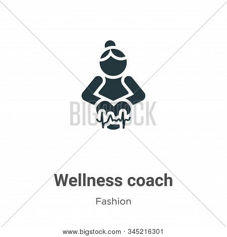 Wellness coach icon isolated on white background from fashion collection. Wellness coach icon trendy