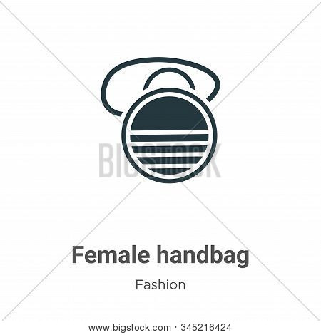 Female handbag icon isolated on white background from fashion collection. Female handbag icon trendy
