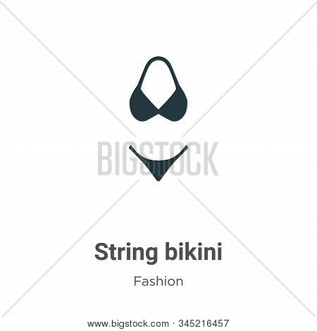 String bikini icon isolated on white background from fashion collection. String bikini icon trendy a
