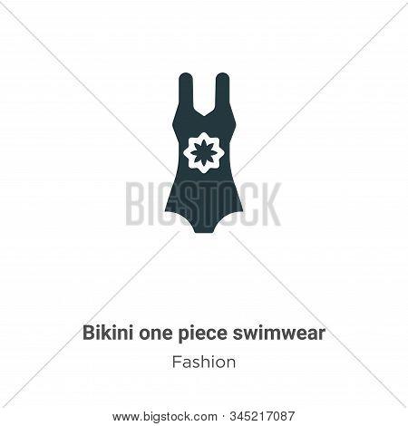 Bikini one piece swimwear icon isolated on white background from fashion collection. Bikini one piec