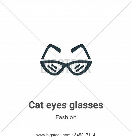 Cat eyes glasses icon isolated on white background from fashion collection. Cat eyes glasses icon tr