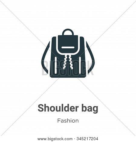Shoulder Bag Vector Icon On White Background. Flat Vector Shoulder Bag Icon Symbol Sign From Modern