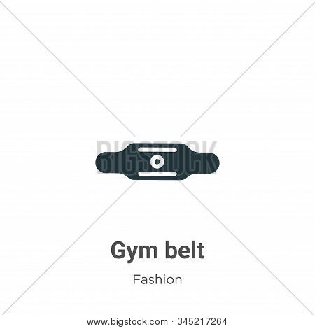 Gym belt icon isolated on white background from fashion collection. Gym belt icon trendy and modern