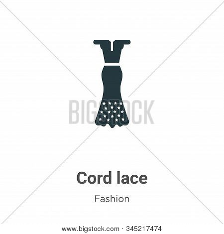 Cord lace icon isolated on white background from fashion collection. Cord lace icon trendy and moder