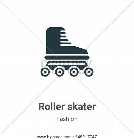 Roller skater icon isolated on white background from fashion collection. Roller skater icon trendy a