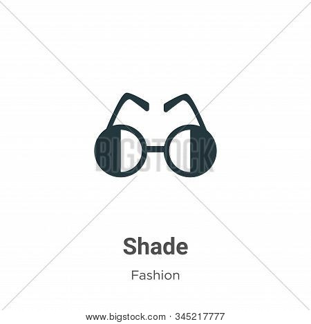 Shade Vector Icon On White Background. Flat Vector Shade Icon Symbol Sign From Modern Fashion Collec