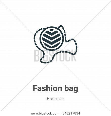 Fashion bag icon isolated on white background from fashion collection. Fashion bag icon trendy and m