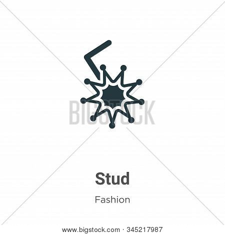 Stud Vector Icon On White Background. Flat Vector Stud Icon Symbol Sign From Modern Fashion Collecti