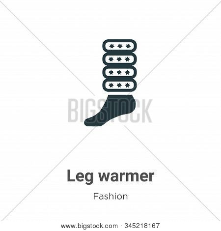 Leg warmer icon isolated on white background from fashion collection. Leg warmer icon trendy and mod