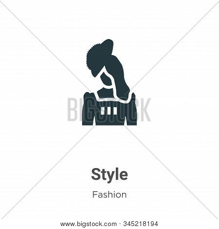 Style icon isolated on white background from fashion collection. Style icon trendy and modern Style