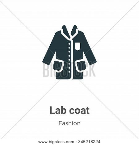 Lab coat icon isolated on white background from fashion collection. Lab coat icon trendy and modern