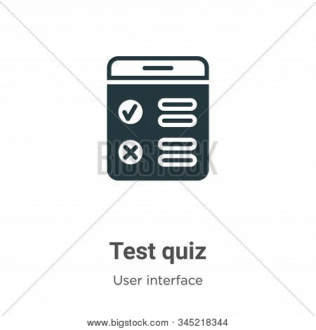 Test quiz icon isolated on white background from user interface collection. Test quiz icon trendy an