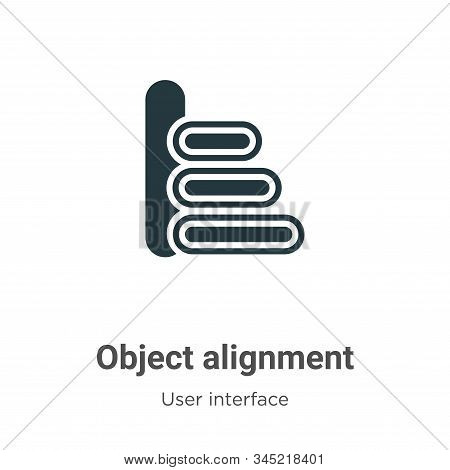 Object alignment icon isolated on white background from user interface collection. Object alignment