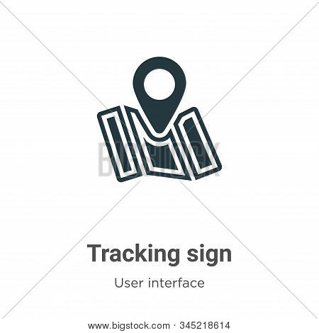 Tracking sign icon isolated on white background from user interface collection. Tracking sign icon t