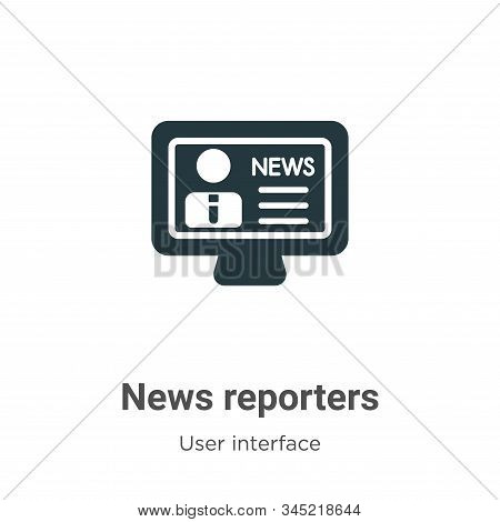 News reporters icon isolated on white background from user interface collection. News reporters icon