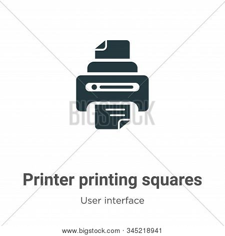 Printer printing squares icon isolated on white background from user interface collection. Printer p