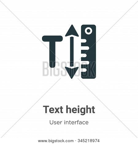 Text height icon isolated on white background from user interface collection. Text height icon trend