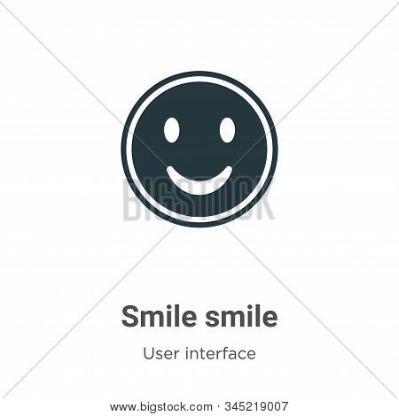 Smile smile icon isolated on white background from user interface collection. Smile smile icon trend