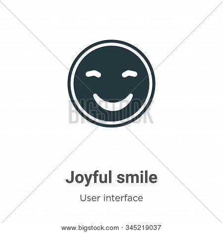 Joyful smile icon isolated on white background from user interface collection. Joyful smile icon tre