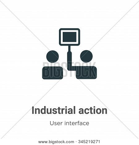 Industrial action icon isolated on white background from user interface collection. Industrial actio