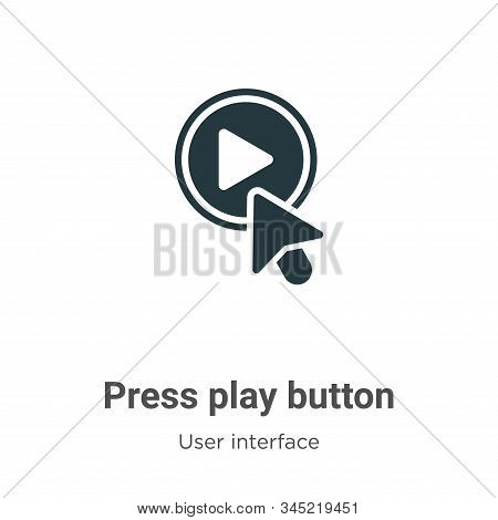 Press play button icon isolated on white background from user interface collection. Press play butto