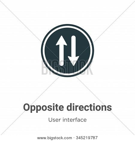 Opposite directions icon isolated on white background from user interface collection. Opposite direc