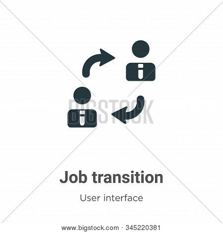Job Transition Vector Icon On White Background. Flat Vector Job Transition Icon Symbol Sign From Mod