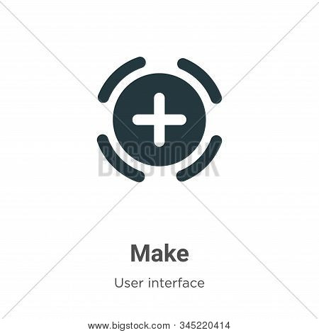 Make icon isolated on white background from user interface collection. Make icon trendy and modern M