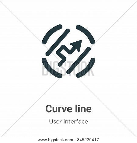 Curve line icon isolated on white background from user interface collection. Curve line icon trendy