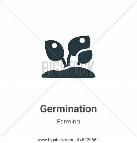 Germination icon isolated on white background from gardening collection. Germination icon trendy and