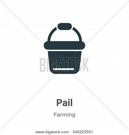 Pail icon isolated on white background from gardening collection. Pail icon trendy and modern Pail s