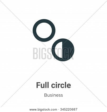 Full circle icon isolated on white background from business collection. Full circle icon trendy and