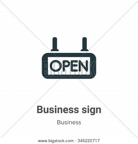 Business sign icon isolated on white background from business collection. Business sign icon trendy