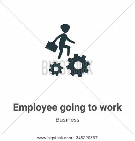 Employee going to work icon isolated on white background from business collection. Employee going to