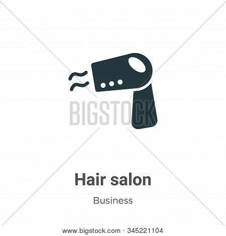 Hair salon icon isolated on white background from business collection. Hair salon icon trendy and mo