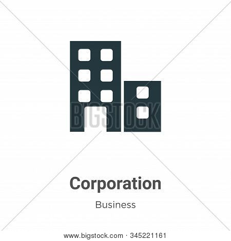 Corporation icon isolated on white background from business collection. Corporation icon trendy and