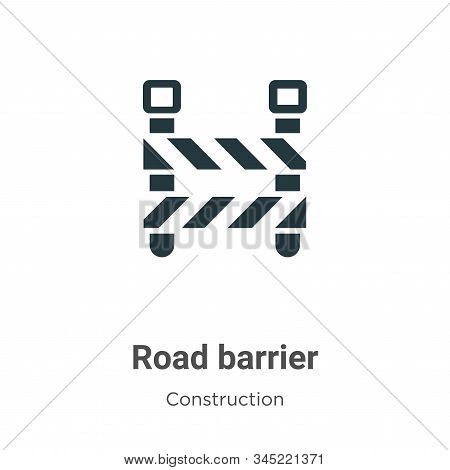 Road Barrier Vector Icon On White Background. Flat Vector Road Barrier Icon Symbol Sign From Modern