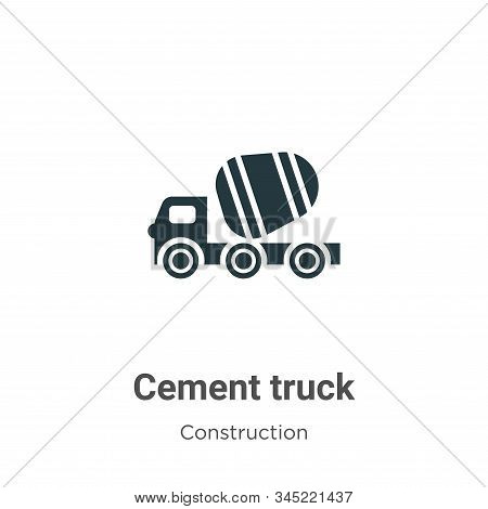 Cement truck icon isolated on white background from construction collection. Cement truck icon trend