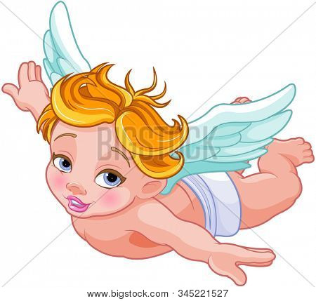 Illustration of Valentines Day Cupid