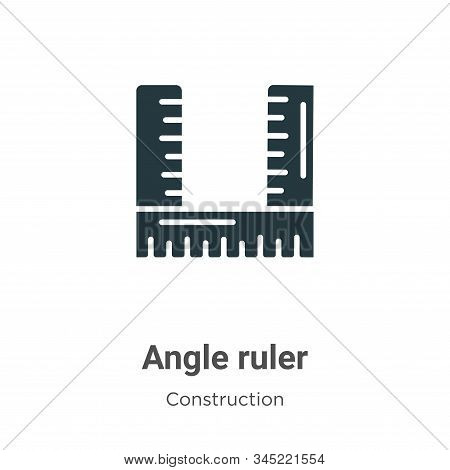 Angle ruler icon isolated on white background from construction collection. Angle ruler icon trendy