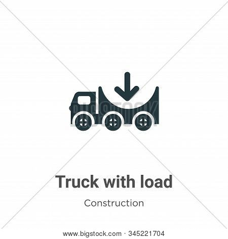 Truck with load icon isolated on white background from construction collection. Truck with load icon