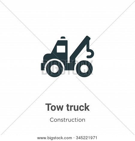 Tow truck icon isolated on white background from construction collection. Tow truck icon trendy and