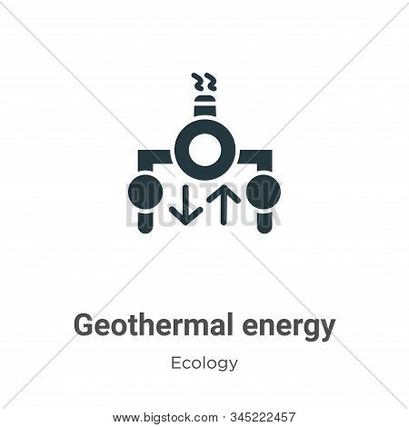 Geothermal Energy Vector Icon On White Background. Flat Vector Geothermal Energy Icon Symbol Sign Fr