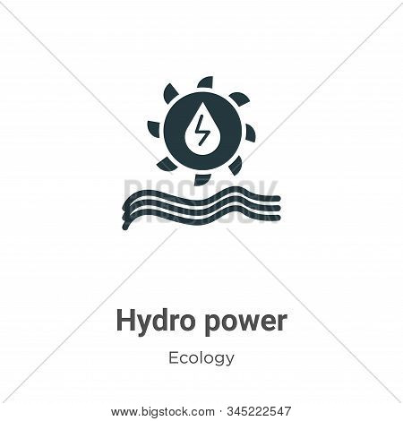 Hydro power icon isolated on white background from ecology collection. Hydro power icon trendy and m