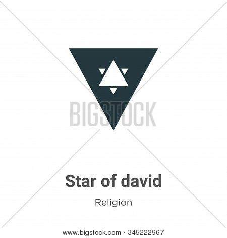 Star of david icon isolated on white background from religion collection. Star of david icon trendy