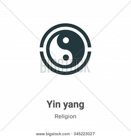 Yin yang icon isolated on white background from religion collection. Yin yang icon trendy and modern