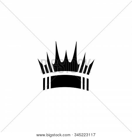 Simple Crown Shape Vector Logo And Icon