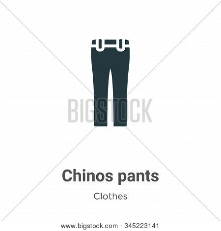 Chinos pants icon isolated on white background from clothes collection. Chinos pants icon trendy and